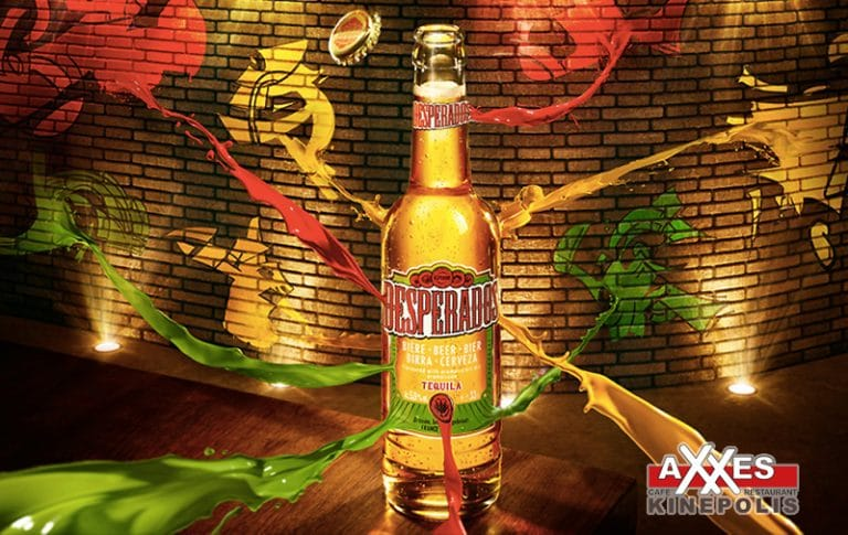 AXXES - cafe - restaurant - kaart - dranken - bier - desperados